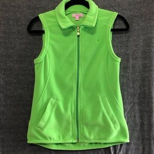 Lime green Lilly Pulitzer fleece vest size xsmall